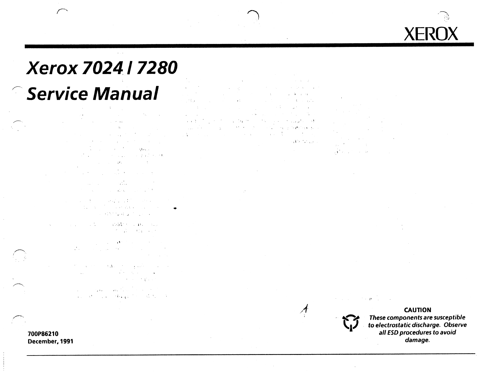 Xerox Printer 7024 7280 Fax Parts List and Service Manual-1